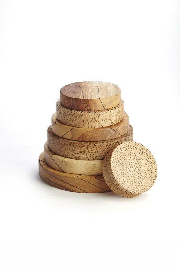 Hardwood Presentation Boards Tableware series by Lee Borthwick